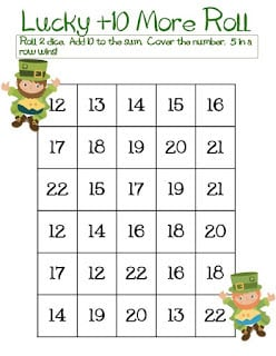 St. Patrick's Day Dice Game