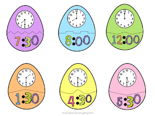 Telling Time with Colorful Eggcellent Easter Eggs