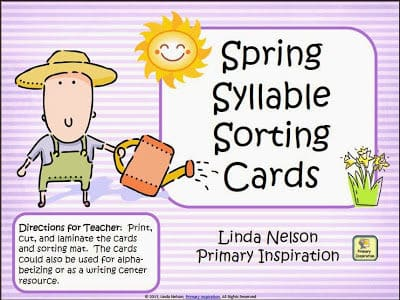 Spring Syllable Sorting