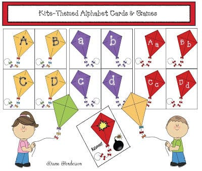 KIte-Themed Alphabet Cards & Games