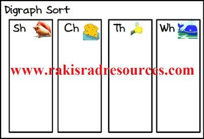 Free picture sort for digraphs from Raki's Rad Resources.