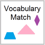 Geometry Vocabulary Word Match Up