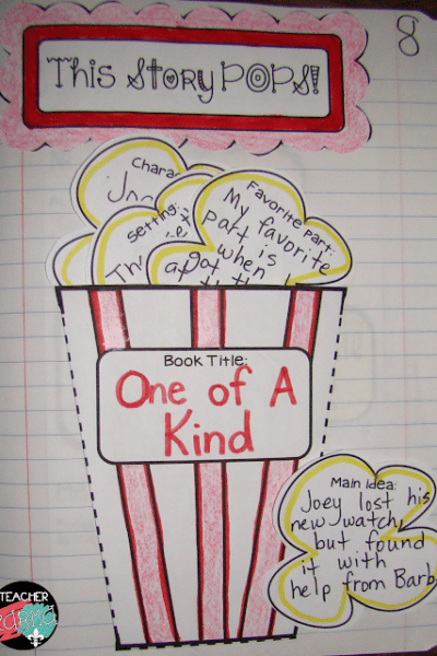 This Story POPS!  FREE PopcornThemed Interactive Book Report