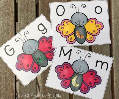 Spring Butterflies Alphabet Match