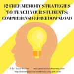 Teaching Your Students Memory Strategies with a Free Download