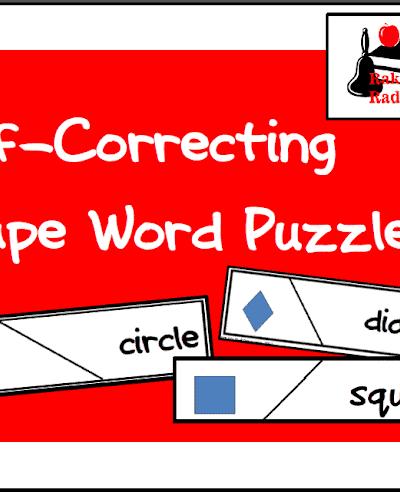 Free Shape Word Self Correcting Puzzle