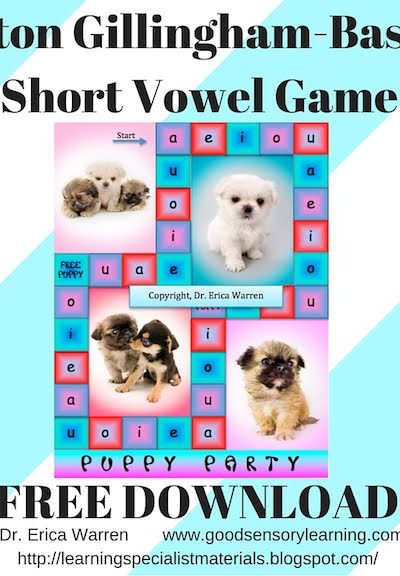 Mastering the Short Vowel Sounds with Puppy Party Game