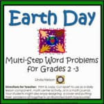 Multi-Step Word Problems for Earth Day