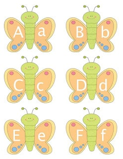 Butterfly Alphabet Cards