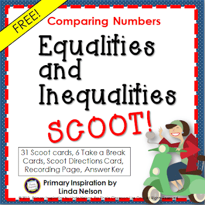 Scoot Game for Math Comparison Signs