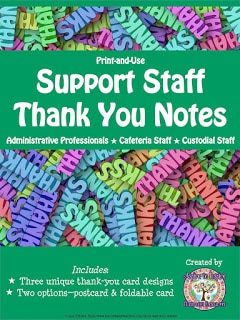 Support Staff Thank You Notes