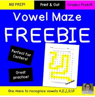 Letter Discrimination Vowel/Consonant Maze FREEBIE