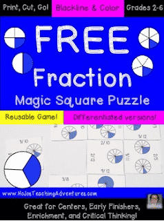FREE Fraction Puzzle Game