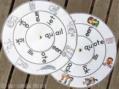 Qu- Digraph Word Wheels