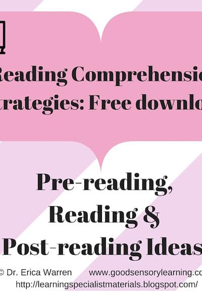 Pre-reading, Reading and Post-reading Strategies Freebie Handout