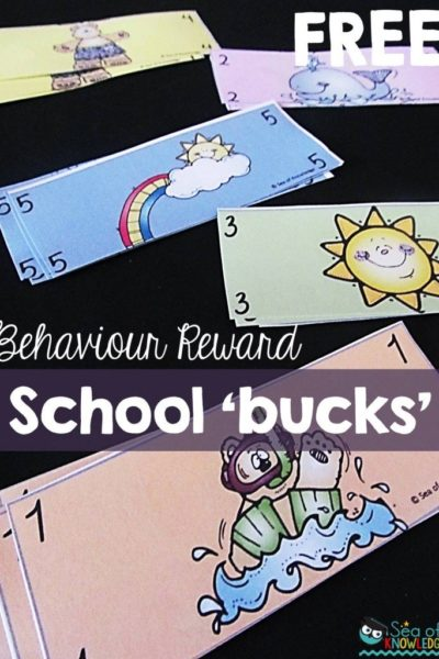 Sea of Knowledge's Free Positive Behavior Incentive 'School Bucks'