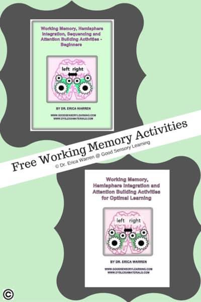 Free Samples of Working Memory Activities
