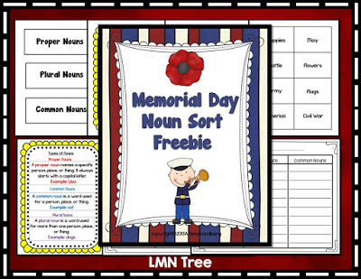 Memorial Day Noun Sort