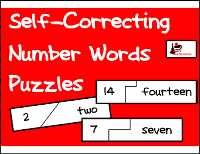 Self Correcting Number Words Puzzle