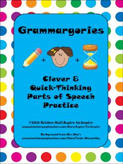 Grammargories: Parts of Speech Review Game
