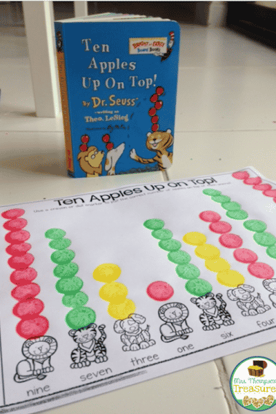 Ten Apples Up On Top – Number Words Free Activity