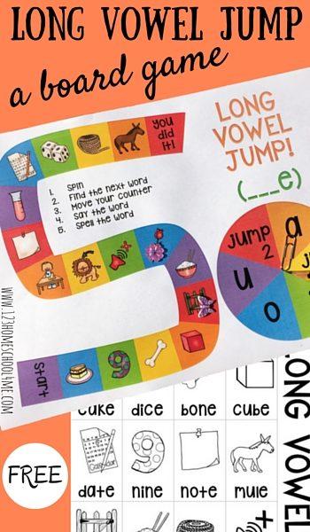 Long Vowel Jump Board Game