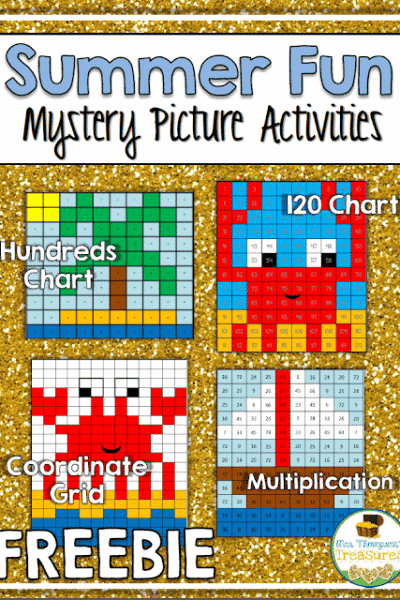 Free Summer Fun Mystery Picture Math Activities