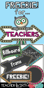 Billboard Frames FREEBIE from Teacher KARMA