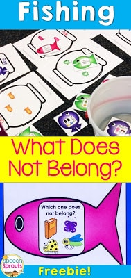 What Does Not belong? Fishing Game- Color Sorting too!