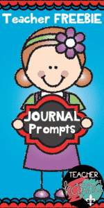Journal Prompts & Writing Checklist from Teacher KARMA
