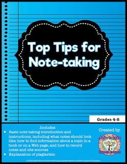 Top Tips for Note-Taking