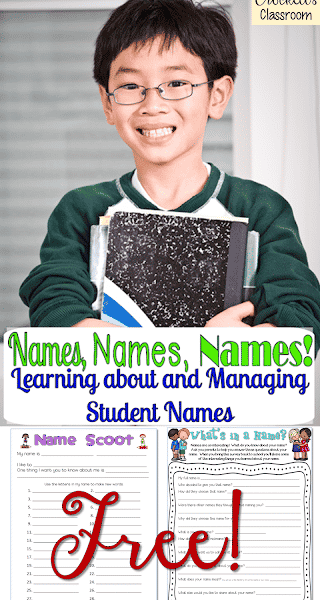 Names, Names, Names Having fun with student names at the Begining of the School Year
