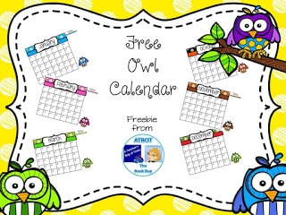FREE Owl Calendar