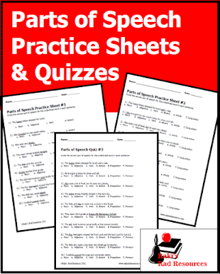 Free Quizzes for Parts of Speech