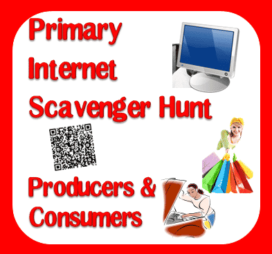 Free Internet Scavenger Hunt (similar to a webquest) to get primary aged students started in internet research. Free download, including QR codes, from Raki's Rad Resources.