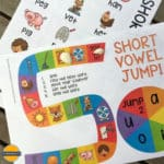 Short Vowel Board Game