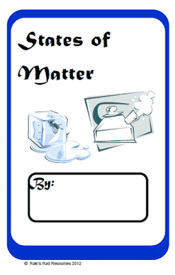 States of Matter Printable Book