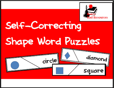 Free Shapes Self Correcting Puzzle for Your Math Center