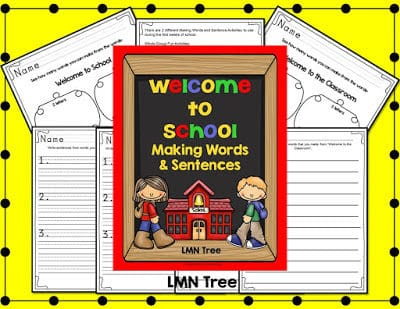 """Welcome to School"" Making Words and Sentences"