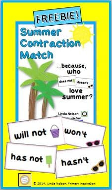"""""""Not"""" Contractions Matching Cards"""