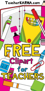 FREE Clipart for Classroom Teachers
