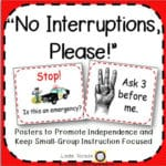 Reduce Interruptions to Your Small Group Instruction