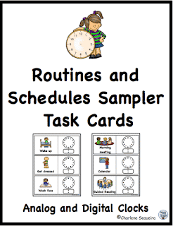 Routines and Schedules Task Card Sampler