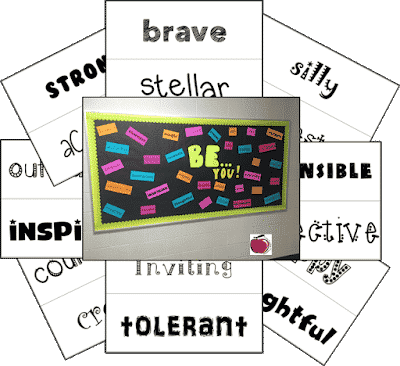Terri's Teaching Treasures' Free BE Bulletin Board Labels