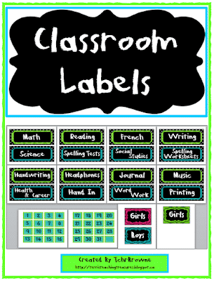 free classroom labels and signs classroom freebies