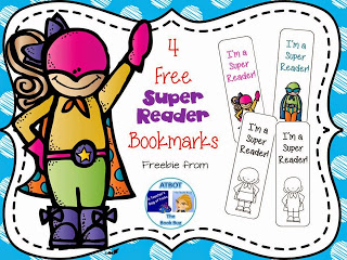 FREE Super Reader Bookmarks