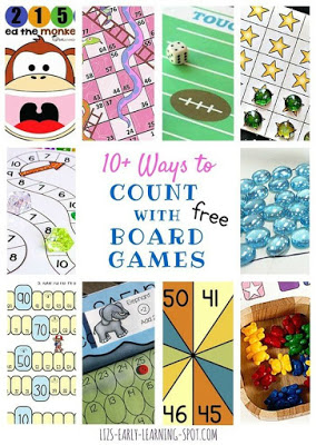 Count with Free Printable Board Games
