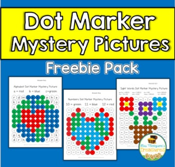 Free Alphabet, Numbers, & Sight Words Fun Mystery Picture Practice