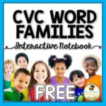 CVC Word Families Interactive Notebook Freebie