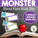 Sea of Knowledge's Free Name Plates Monster Themed!